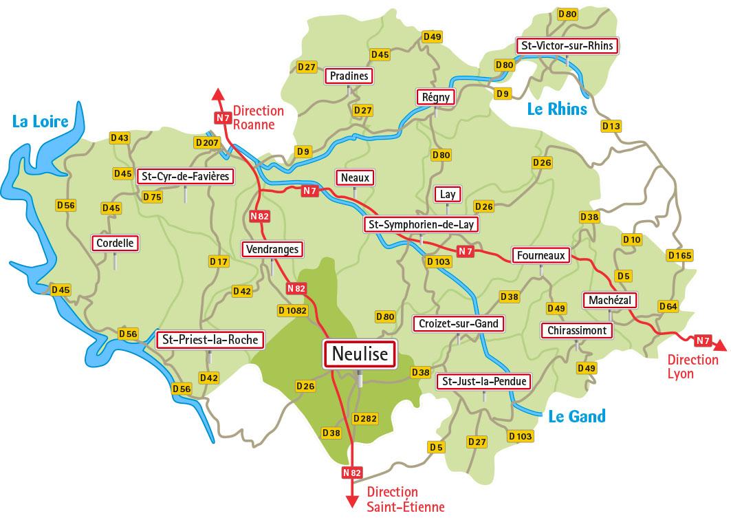 Carte du territoire de la CoPLER