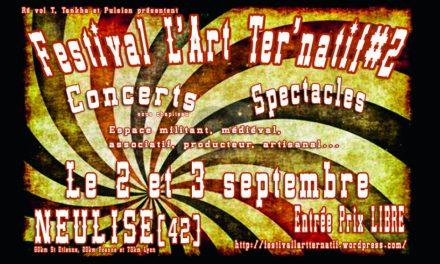 Festival L'Art Ter Natif les 2 et 3 septembre