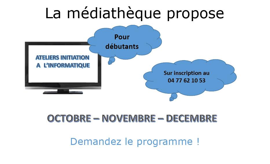 Suite des ateliers informatique gratuits à la médiathèque