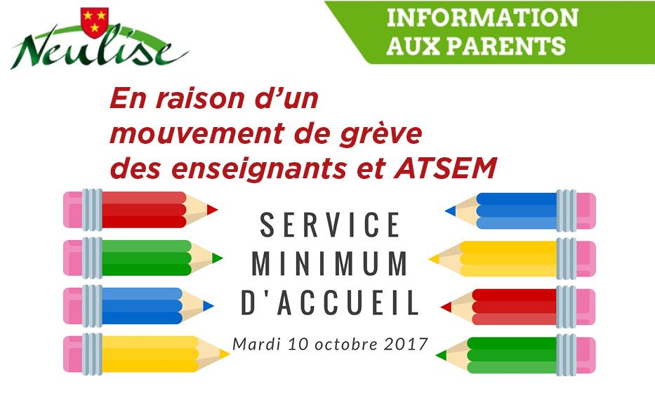 Service minimum mardi 10 octobre 2017