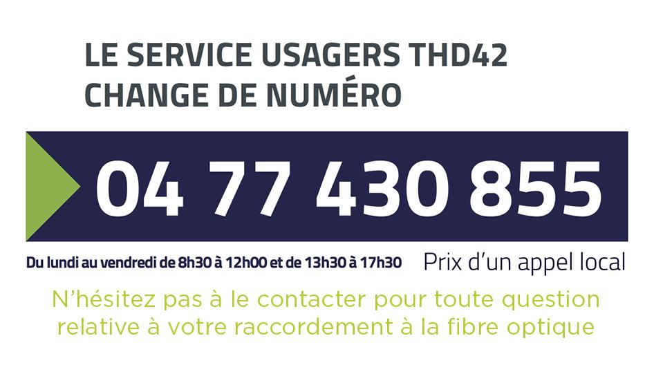 Nouveau numéro d'appel THD42