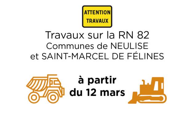 Travaux sur la RN82 à partir du 12 mars