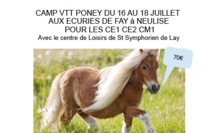 Camp poney-VTT pour les CE1-CE2-CM1