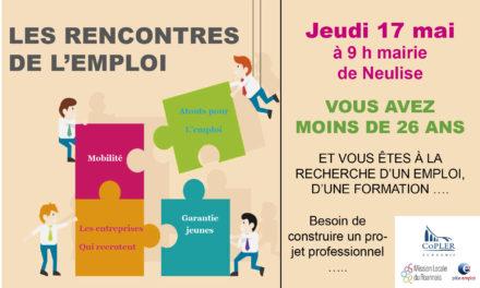 Rencontres de l'emploi jeudi 17 mai