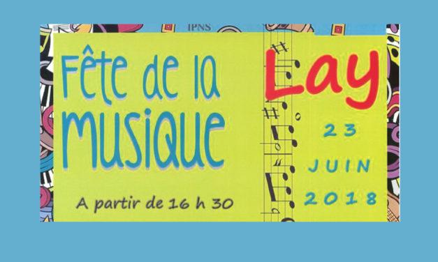 Fêtez la musique à Lay le 23 juin