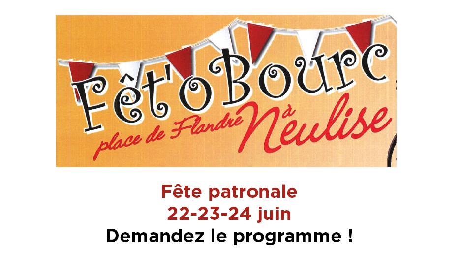 Fête patronale les 22-23-24 juin
