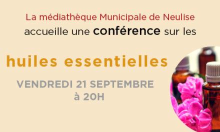 Conférence sur les huiles essentielles vendredi 21 septembre