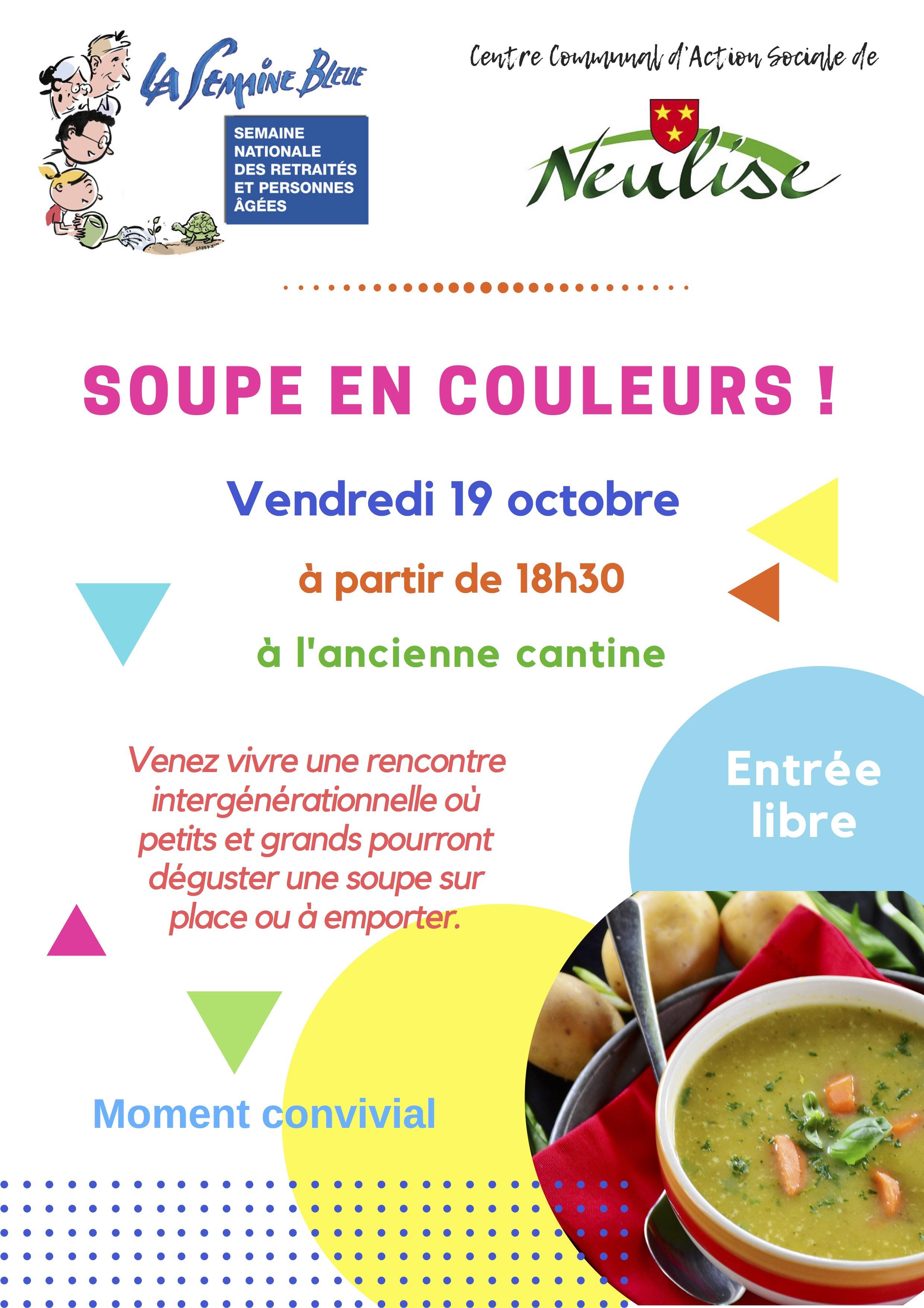 Soupe en couleurs pour la semaine bleue à Neulise