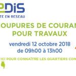 Coupures Enedis prévues sur la commune le 12 octobre !