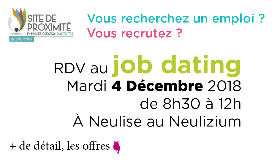Job dating à Neulise le 4 décembre