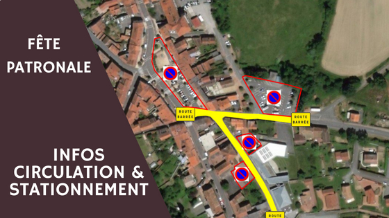 Modification du plan de circulation pour la fête patronale