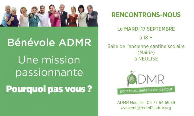 Réunion d'information ADMR le 17/9 à 18h