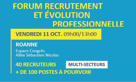 Forum recrutement et évolution professionnelle à Roanne