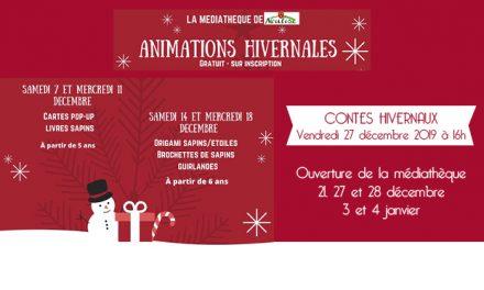 Animations de Noël à la médiathèque