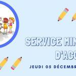 Service minimum d'accueil 05 décembre 2019 école publique