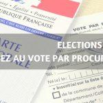 Élections 2020 pensez au vote par procuration