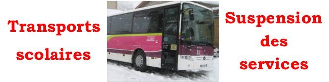 ÉPISODE NEIGEUX – Pas de transports scolaires vendredi 6 février