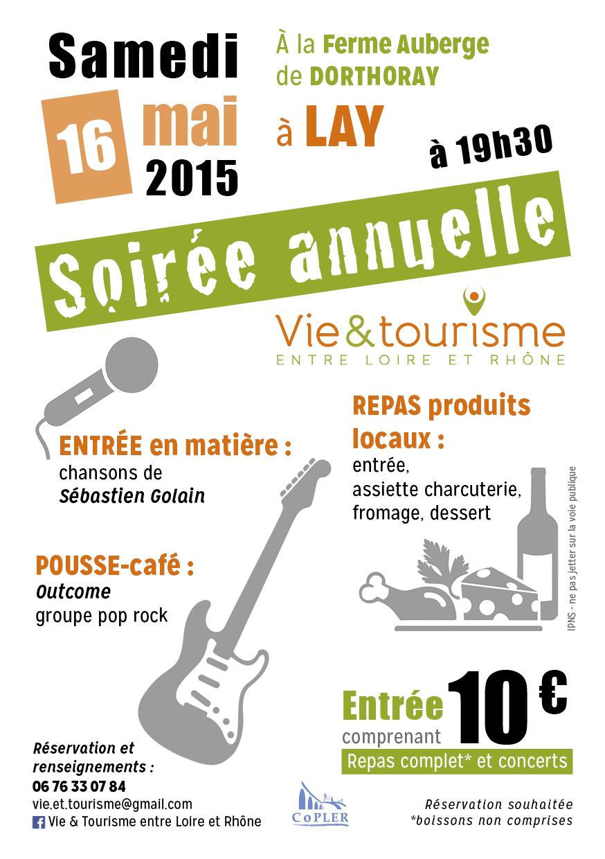 16 mai 2015 : Soirée annuelle Vie & Tourisme