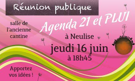 Réunion publique Agenda 21 et PLUI