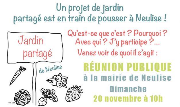 Réunion jardin partagé dimanche 20 novembre