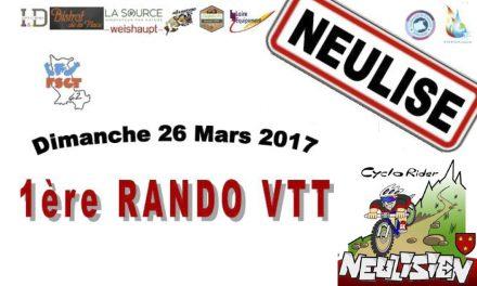 Première Rando VTT de Neulise ce 26 mars !