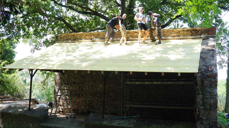 La rénovation du lavoir se poursuit cette année grâce à l'association Concordia