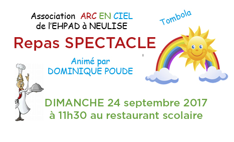 Repas-spectacle ARC EN CIEL le 24 septembre