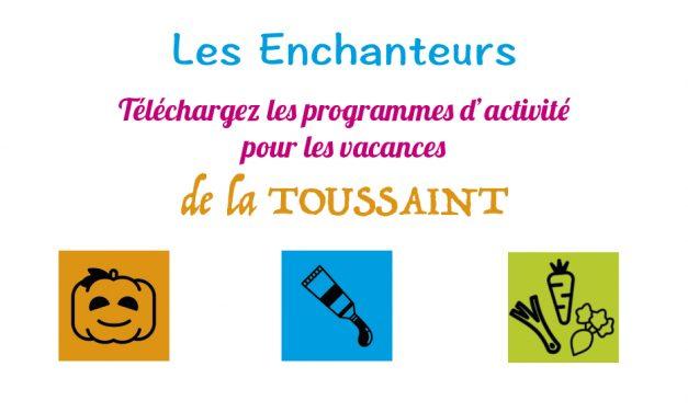 Programme des activités pour les vacances de la Toussaint