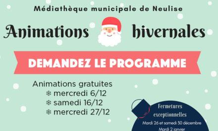 Programme des animations en décembre