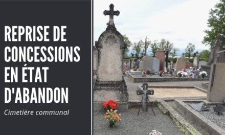 Reprise des concessions en état d'abandon au cimetière communal