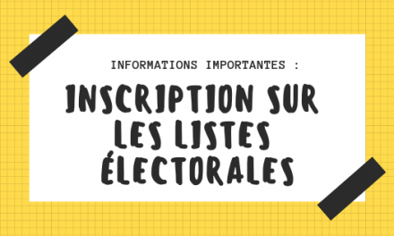 Informations importantes – Listes électorales