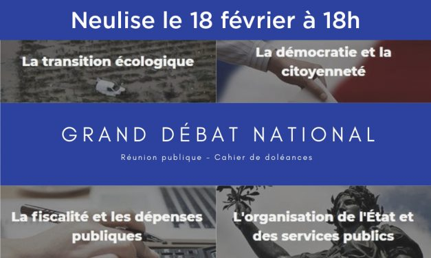 Grand débat national à Neulise le 18 février