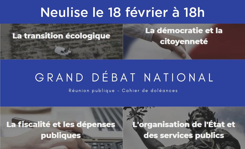 Grand débat national à Neulise le 18 février
