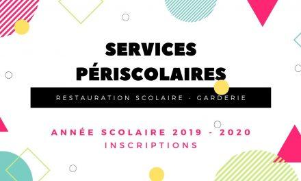 Inscription aux services périscolaires 2019 – 2020