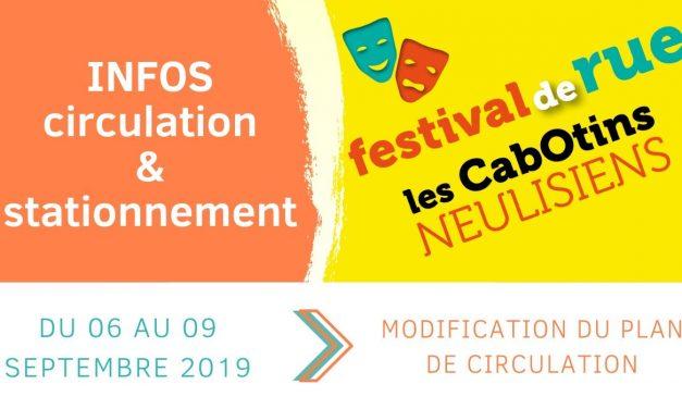 Festival Les Cabotins : infos circulation et stationnement