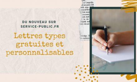 Lettres types sur service-publique.fr
