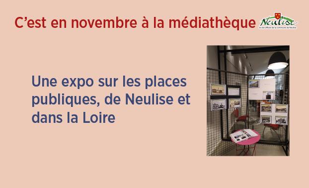 Expo sur les places publiques à la médiathèque