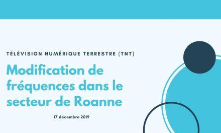 Modifications de fréquences TNT sur secteur de Roanne