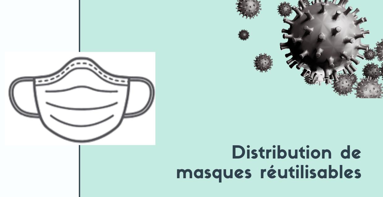 Distribution de masques réutilisables