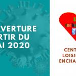 Centre de loisirs :  Réouverture à compter du 18 mai 2020
