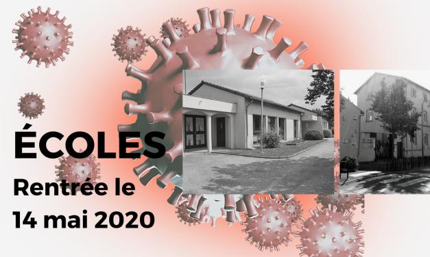 Ecoles de Neulise – Rentrée le jeudi 14 mai pour les élèves