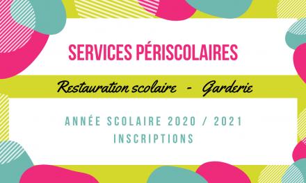 Inscription aux services périscolaires 2020 – 2021