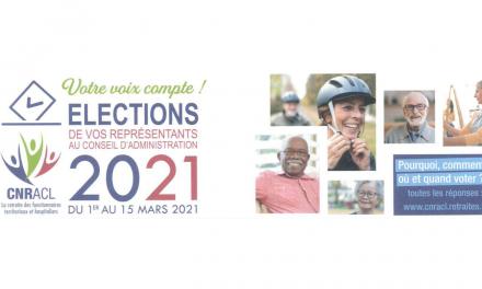 CNRACL – Elections des représentants au conseil d'administration 2021