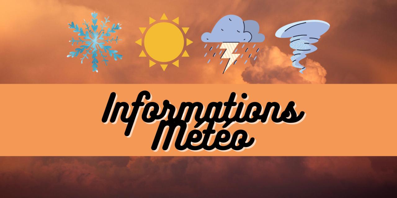 ALERTE MÉTÉOROLOGIQUE : pluie inondation
