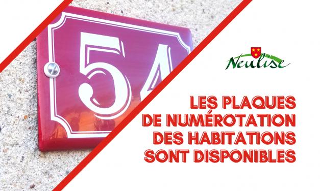 Les plaques de numérotation des habitations sont disponibles