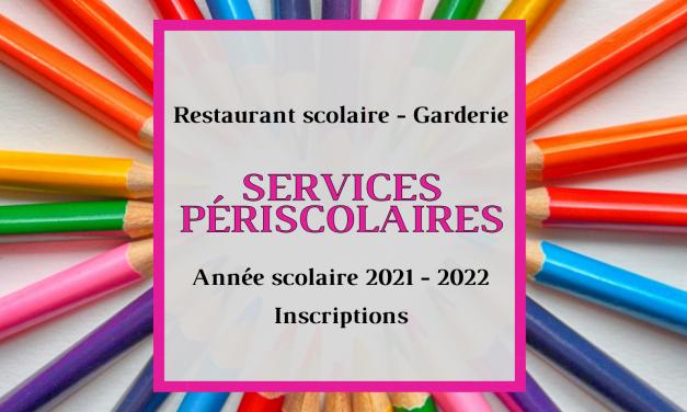 Inscription aux services périscolaires 2021 – 2022