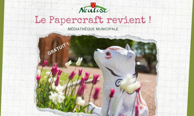 Les ateliers papercraft reviennent !